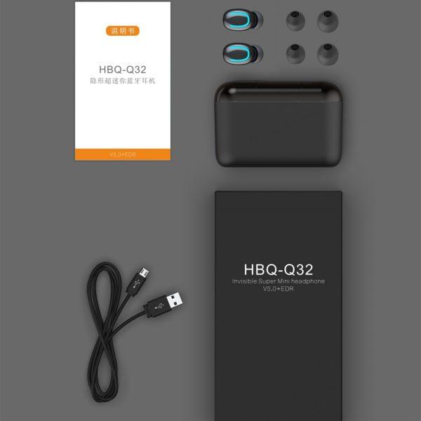 Bluetooth 5.0 Earphones TWS Wireless Headphones Blutooth Earphone Handsfree Headphone Sports Earbuds Gaming Headset Phone PK HBQ 5