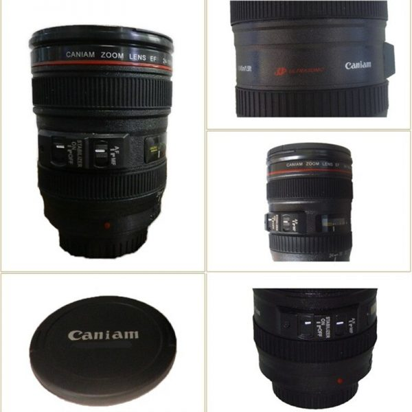 Creative 400ml Creative Canon Lens Cup Hand Cup Coffee Cup Second Generation Camera Cup SLR Camera Lens Covered Mug Photographer 5