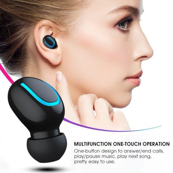 Bluetooth 5.0 Earphones TWS Wireless Headphones Blutooth Earphone Handsfree Headphone Sports Earbuds Gaming Headset Phone PK HBQ 3