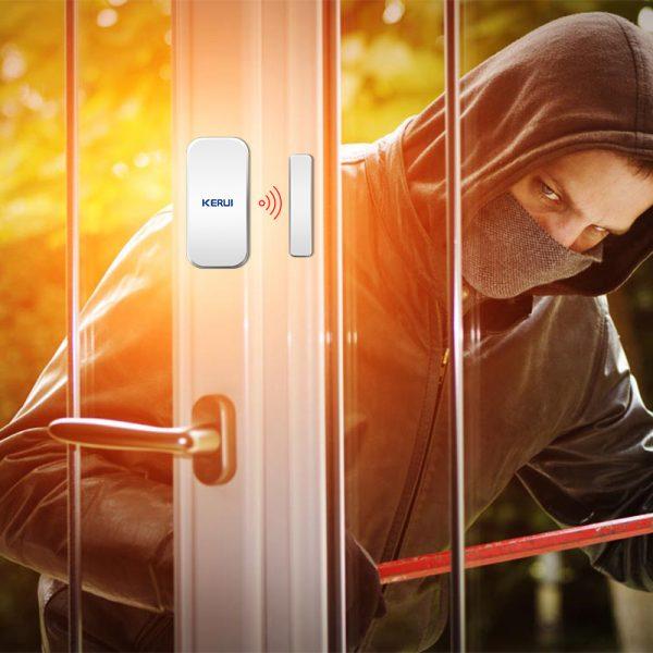 Original KERUI D025 433MHz Wireless Window Door Magnet Sensor Detector For Home Wireless Alarm System 1
