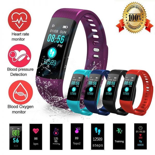 Smart Watch Sports Fitness Activity Heart Rate Tracker Blood Pressure wristband IP67 Waterproof band Pedometer for IOS Android 1
