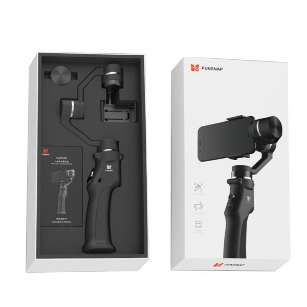 Funsnap Capture 3 Axis Handheld Phone Gimbal Stabilizer for iPhone X 8 7 Plus Samsung S8 Piexl Gopro Hero 7 6 5 Yi Sjam EKEN H9  4