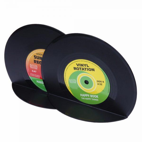 VODOOL 1Set/2Pcs New Arrivals Retro Office Accessories Record Bookends Vinyl Bookends Desk Organizer Desktop School Book Holder  2
