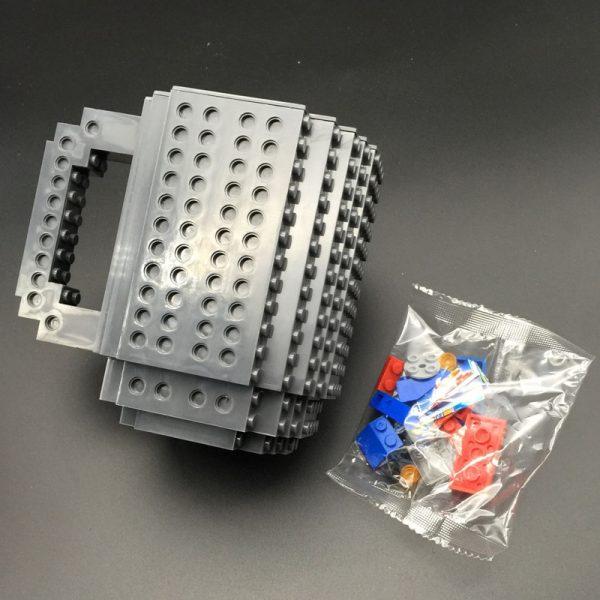 Build-On Brick Mug DIY Bulding Blocks Coffee Mugs 350 ml Creative Drinkware BPA Free  mug Birthday Gifts Tazas  1