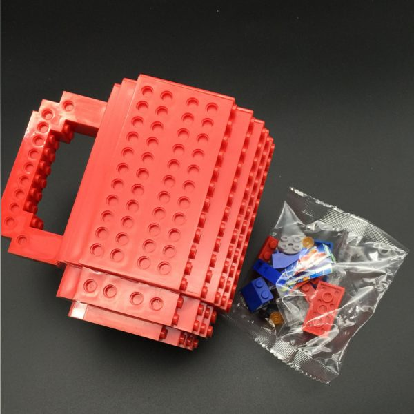 Build-On Brick Mug DIY Bulding Blocks Coffee Mugs 350 ml Creative Drinkware BPA Free  mug Birthday Gifts Tazas  2