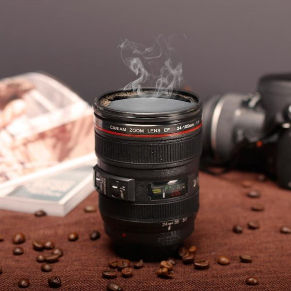 Creative 400ml Creative Canon Lens Cup Hand Cup Coffee Cup Second Generation Camera Cup SLR Camera Lens Covered Mug Photographer