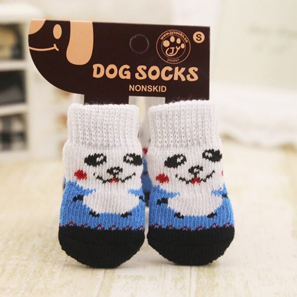 lovely pet Fashion Pets Dogs Socks 4Pcs Cute Puppy Dogs Pet Knits Socks Anti Slip Skid Bottom 1