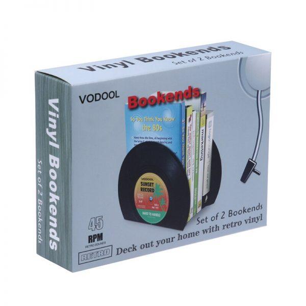 VODOOL 1Set/2Pcs New Arrivals Retro Office Accessories Record Bookends Vinyl Bookends Desk Organizer Desktop School Book Holder  5