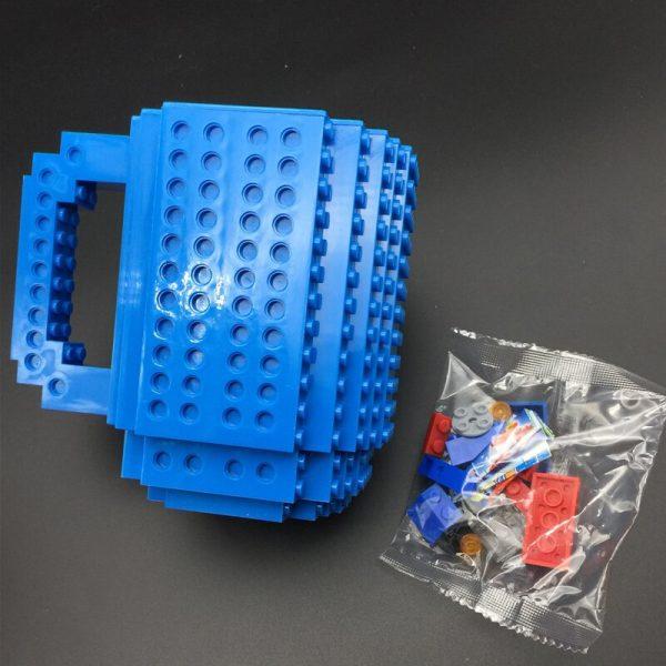 Build-On Brick Mug DIY Bulding Blocks Coffee Mugs 350 ml Creative Drinkware BPA Free  mug Birthday Gifts Tazas  3