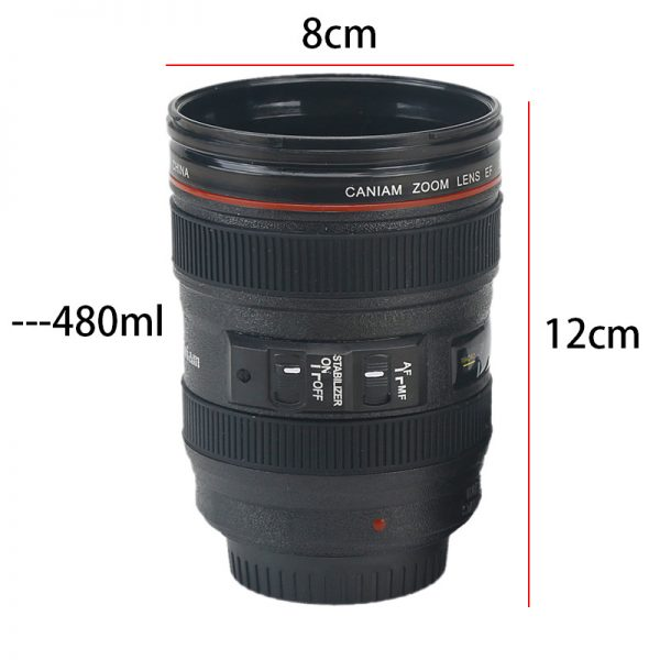 Creative 400ml Creative Canon Lens Cup Hand Cup Coffee Cup Second Generation Camera Cup SLR Camera Lens Covered Mug Photographer 1
