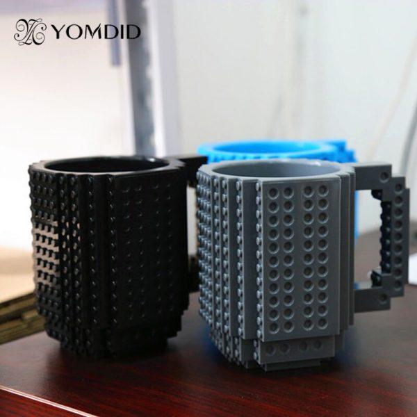 Build-On Brick Mug DIY Bulding Blocks Coffee Mugs 350 ml Creative Drinkware BPA Free  mug Birthday Gifts Tazas  4