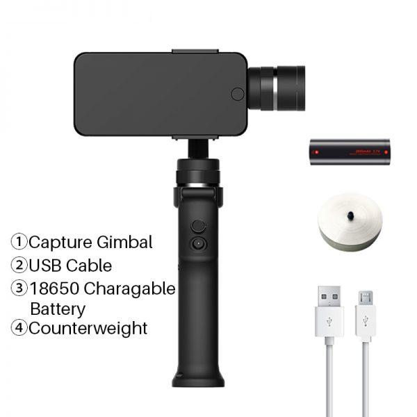 Funsnap Capture 3 Axis Handheld Phone Gimbal Stabilizer for iPhone X 8 7 Plus Samsung S8 Piexl Gopro Hero 7 6 5 Yi Sjam EKEN H9  2